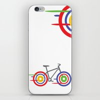 bike iPhone & iPod Skins featuring Bike! by Alice Wieckowska