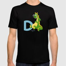 d for dragon Mens Fitted Tee Black MEDIUM