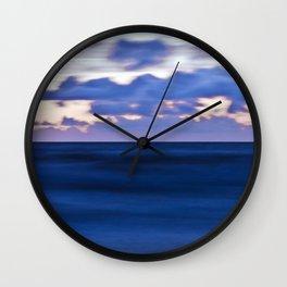 Blue Sound of the Danish Sea Wall Clock