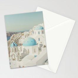 Santorini in Greece Stationery Cards
