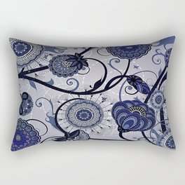 Denim Blues Rectangular Pillow