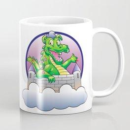 Illustration dragon and castle Coffee Mug