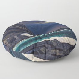 Classical Masterpiece Brewing Storm, Monhegan Island, Maine by Rockwell Kent Floor Pillow