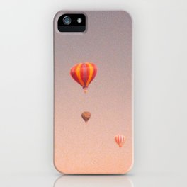 vintage hot air balloons in rio iPhone Case