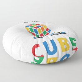 King Of The Cube Rubik's Rubiks Cube Rubik Cube Retro Colorful son Cube Game math kid gift Fun Gift for Cuber Spinning Rubix Floor Pillow