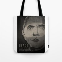 dracula Tote Bags featuring Dracula  by James Northcote