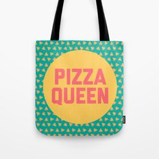 Pizza Queen Funny Quote (Graphic) Tote Bag