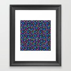 Multicolored Swirls Pattern Framed Art Print
