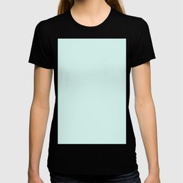 Light Cyan Soft Mint Green Solid Matte Colour Palette T-shirt