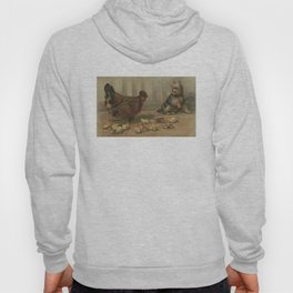 Vintage Chicken Farm and a Dog Illustration (1891) Hoody