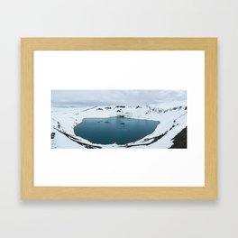 Krafla Volcano Framed Art Print