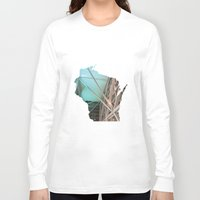 wisconsin Long Sleeve T-shirts featuring Wisconsin ii by Isabel Moreno-Garcia
