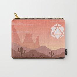 Desert Sunset Cactus D20 Dice Sun Tabletop RPG Landscape Carry-All Pouch