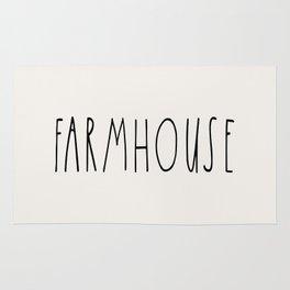 FARMHOUSE wording Typography Rug