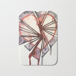 Shattered heart Bath Mat