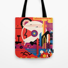 NASA Retro Space Travel Poster #9 Mars Tote Bag