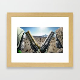 Myelin Last Word / First Curse Framed Art Print