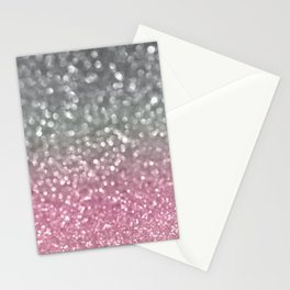 Gray and Light Pink Stationery Cards