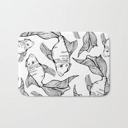 Sea-life Collection - FishTank, Black & White Bath Mat