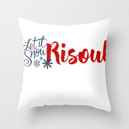 Snow in Risoul Throw Pillow
