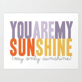 {sunshine-purple} Art Print