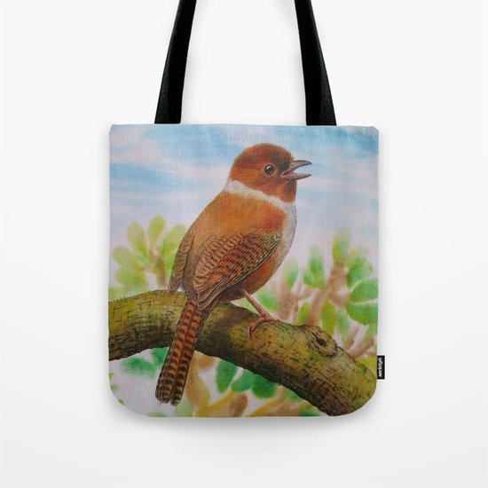A Brown Bird Tote Bag