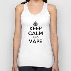 Keep Calm and Vape Unisex Tank Top