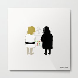 Saber Fight Metal Print