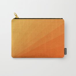 Shades of Sun - Line Gradient Pattern between Light Orange and Pale Orange Carry-All Pouch