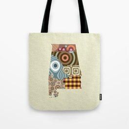 Alabama State Map Tote Bag