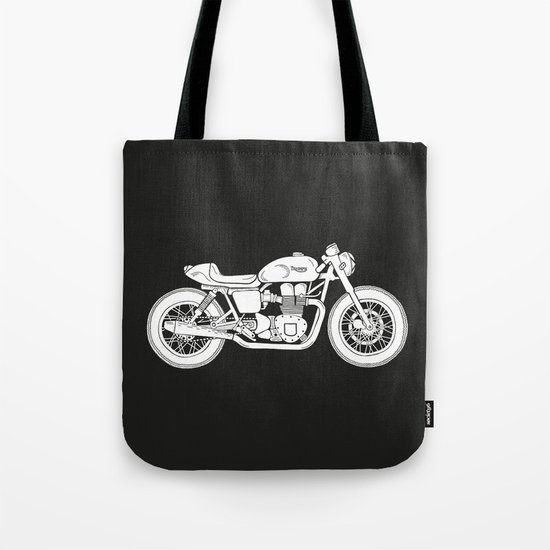 Triumph Bonneville - Cafe Racer series #3 Tote Bag