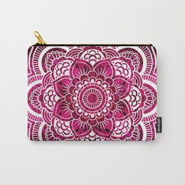 Mandala Hot Pink Colorburst Carry-All Pouch