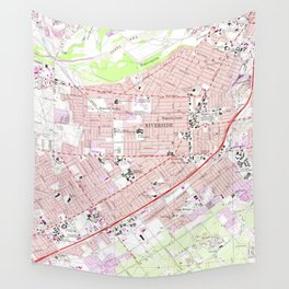 Vintage Map of Riverside California (1967) 2 Wall Tapestry