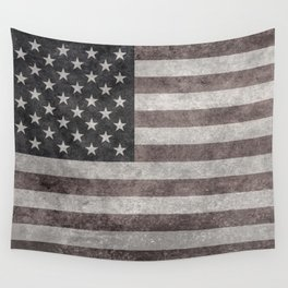 American flag, Retro desaturated look Wall Tapestry