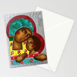 modern folk icon - Folk Madonna 1 Stationery Cards