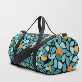 Orange Grove Woodblock Abstract Print Duffle Bag