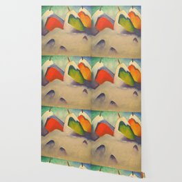 "Franz Marc ""Haystacks in the Snow"" Wallpaper"