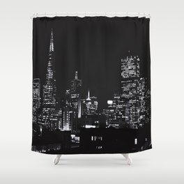 Parking Garage Views Shower Curtain
