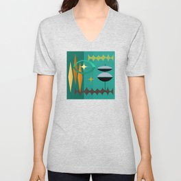 Watching From The High Tower Unisex V-Neck