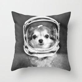 Lola as Astronaut Throw Pillow
