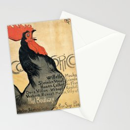 Cocorico by Theophile Steinlen, 1899 Stationery Cards