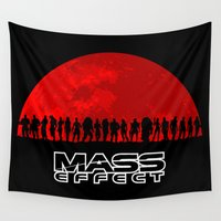 mass effect Wall Tapestries featuring Mass Effect by TxzDesign