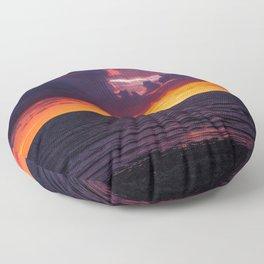 Purple Sunset Floor Pillow
