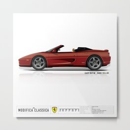 Ferrari 1996 F355 Spider Rosso Corsa BLACK BRAKES Metal Print