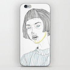 DoodleGirl Three iPhone Skin