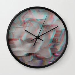 Lotus Glitch Wall Clock