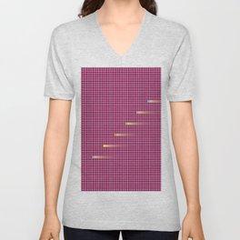 Checked Pattern_G Unisex V-Neck