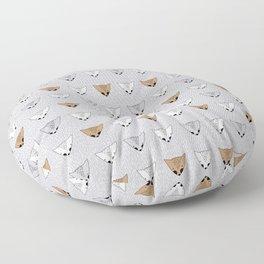 Shaggy faces Floor Pillow