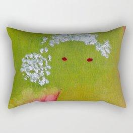 """Lili"" Original oil finger painting by Monika Toth Rectangular Pillow"