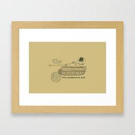 Michael Wittmann Panzer Ace 1331 Kursk Sand/Olive Green Framed Art Print